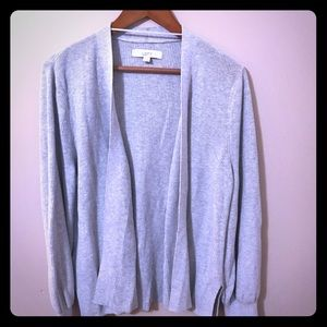 Loft XL Grey Cardigan New